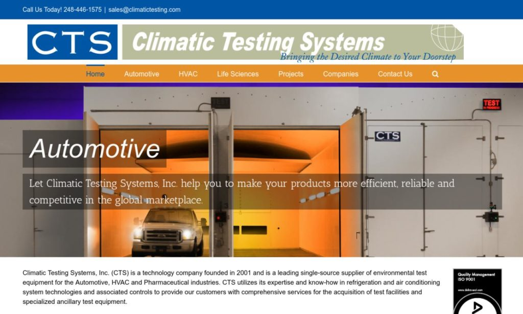 Climatic Testing Systems Inc.