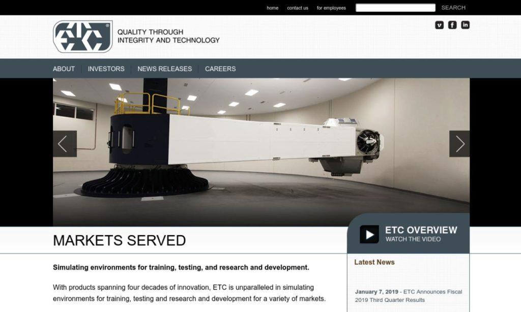 Environmental Tectonics Corp. (ETC)