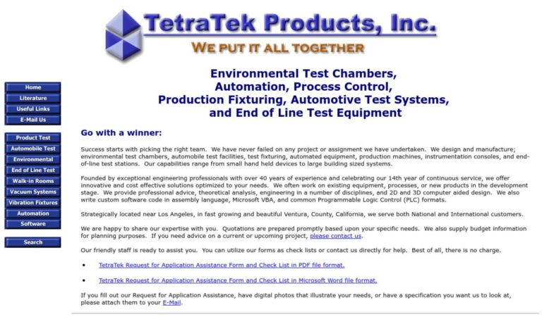 TetraTek Products, Inc.