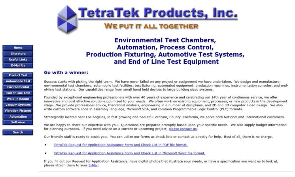 TetraTek Products, Inc.
