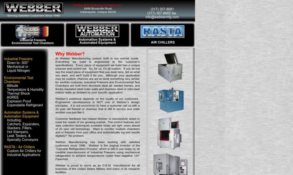 Webber Manufacturing Company, Inc.